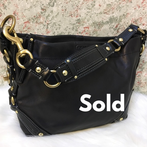 Coach Handbags - SOLD! COACH  Carly Leather Hobo Shoulder Bag 10615